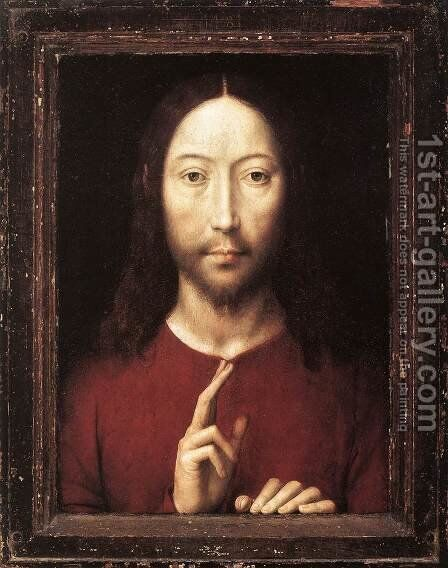 Christ Giving His Blessing 1481 by Hans Memling - Reproduction Oil Painting