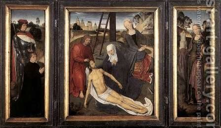 Triptych of Adriaan Reins 1480 by Hans Memling - Reproduction Oil Painting