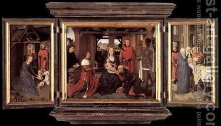 Triptych Of Jan Floreins by Hans Memling - Reproduction Oil Painting