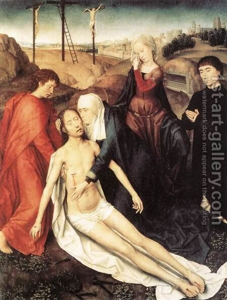 Lamentation 1475-80 by Hans Memling - Reproduction Oil Painting