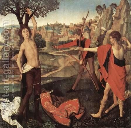The Martyrdom of St Sebastian c. 1475 by Hans Memling - Reproduction Oil Painting