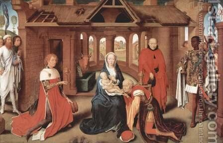 Adoration of the Magi c. 1470 by Hans Memling - Reproduction Oil Painting