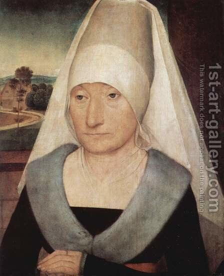 Portrait of an Old Woman 1470-75 by Hans Memling - Reproduction Oil Painting