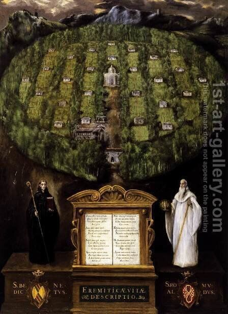 Allegory of the Camaldolese Order 1599-1600 by El Greco - Reproduction Oil Painting