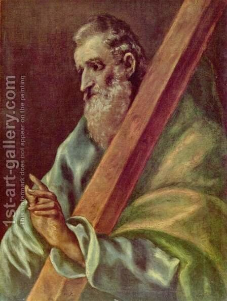 Apostle St Andrew c. 1610 by El Greco - Reproduction Oil Painting