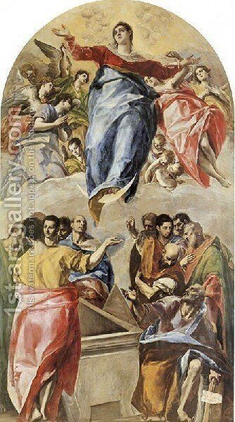 The Assumption of the Virgin 1577 by El Greco - Reproduction Oil Painting