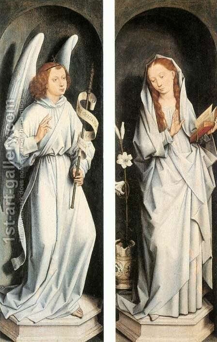 Annunciation 1467-70 by Hans Memling - Reproduction Oil Painting