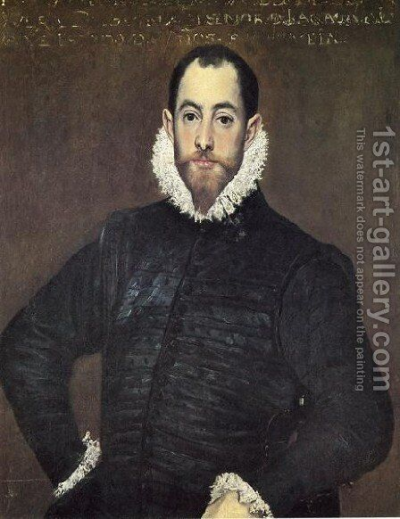 Gentleman Of The House Of Leiva by El Greco - Reproduction Oil Painting