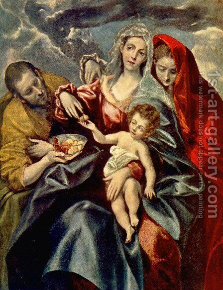 The Holy Family with St Mary Magdalen 1595-1600 by El Greco - Reproduction Oil Painting