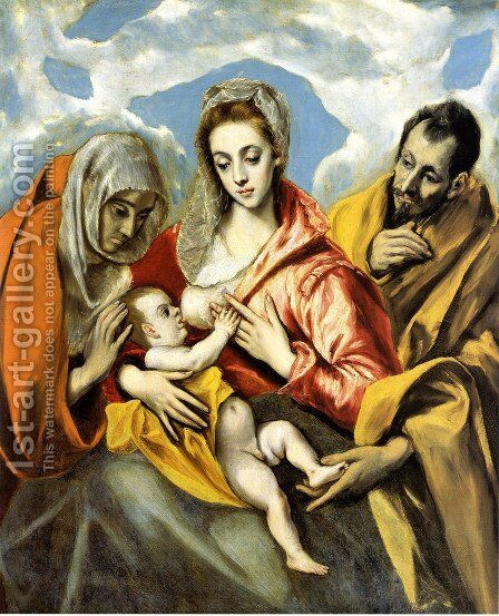 Holy Family (The Virgin of the Good Milk)  1594-1604 by El Greco - Reproduction Oil Painting