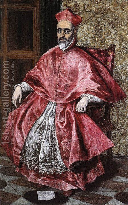 Portrait Of A Cardinal by El Greco - Reproduction Oil Painting