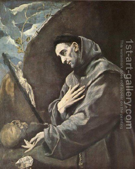 St  Francis In Meditation by El Greco - Reproduction Oil Painting