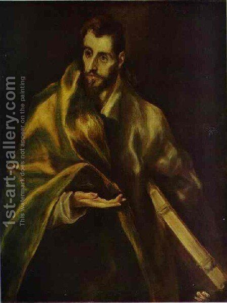 St  James The Greater by El Greco - Reproduction Oil Painting