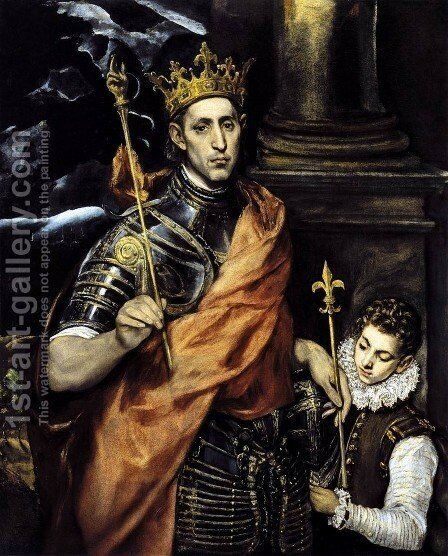 St. Louis- King of France 1586-94 by El Greco - Reproduction Oil Painting