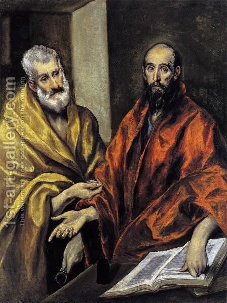 Saints Peter and Paul 1605-08 by El Greco - Reproduction Oil Painting