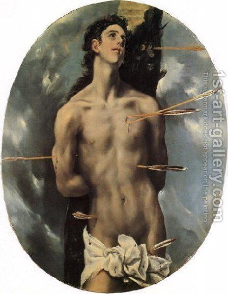 St  Sebastian Ii by El Greco - Reproduction Oil Painting