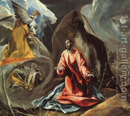 The Agony in the Garden c. 1590 by El Greco - Reproduction Oil Painting