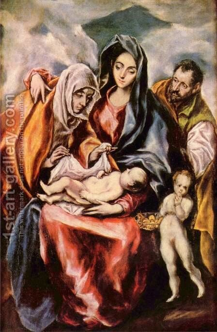 The Holy Family by El Greco - Reproduction Oil Painting