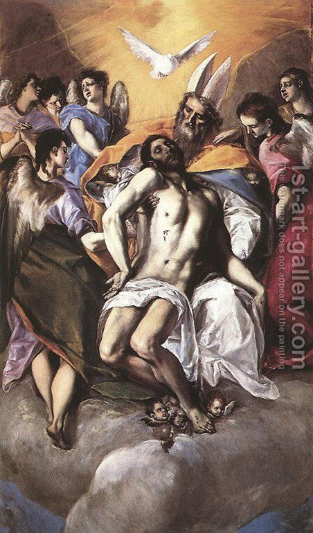 The Holy Trinity 1577-79 by El Greco - Reproduction Oil Painting