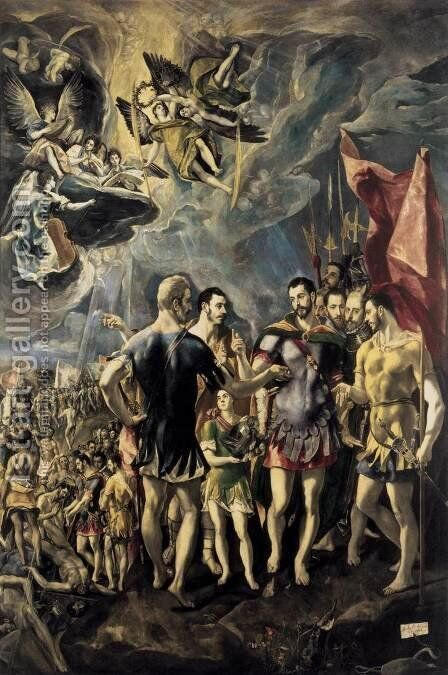 The Martyrdom of St Maurice 1580-81 by El Greco - Reproduction Oil Painting