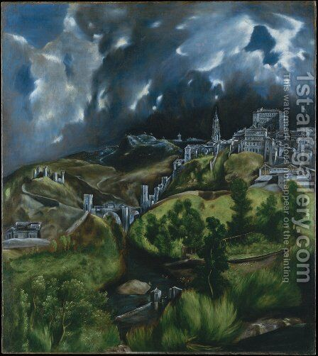 View of Toledo 1597-99 by El Greco - Reproduction Oil Painting