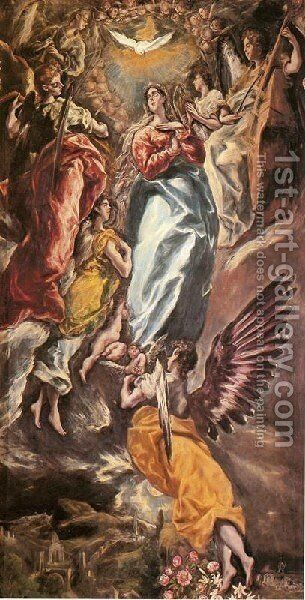 Virgin Of The Immaculate Conception by El Greco - Reproduction Oil Painting