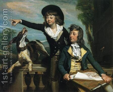 Charles Callis Western And His Brother Shirley Western by John Singleton Copley - Reproduction Oil Painting