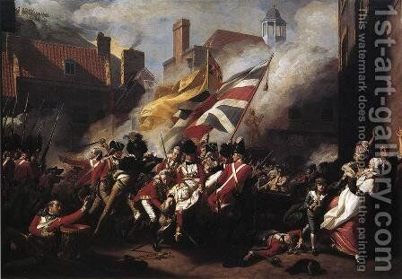 The Death Of Major Pierson by John Singleton Copley - Reproduction Oil Painting