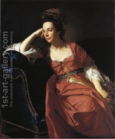 Mrs  Thomas Gage Margaret Kemble by John Singleton Copley - Reproduction Oil Painting