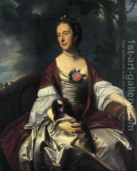 Mrs  Jerathmael Bowers by John Singleton Copley - Reproduction Oil Painting
