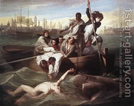 Brook Watson and the Shark 1778 by John Singleton Copley - Reproduction Oil Painting