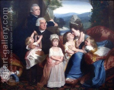 The Copley Family by John Singleton Copley - Reproduction Oil Painting