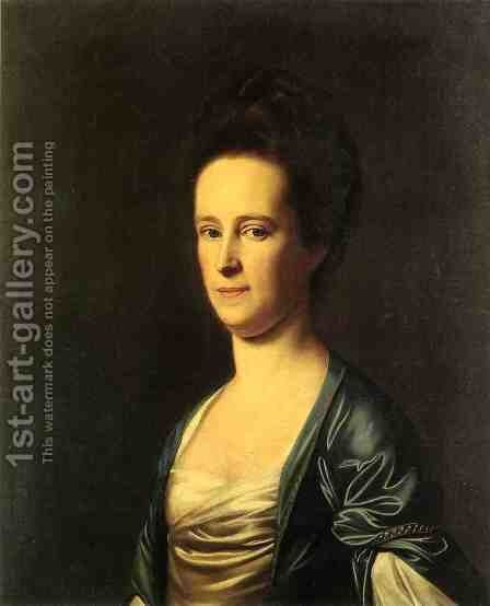 Mrs  Elizabeth Coffin Amory by John Singleton Copley - Reproduction Oil Painting