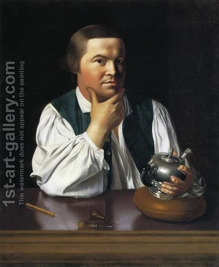Paul Revere 1768-70 by John Singleton Copley - Reproduction Oil Painting