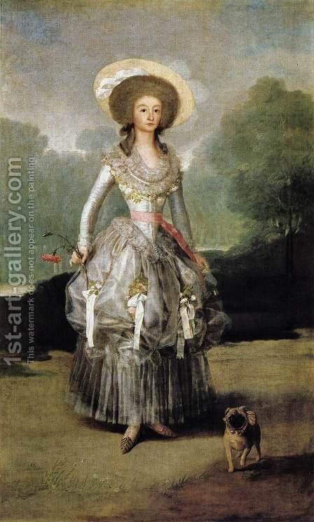 Marquesa De Pontejos by Goya - Reproduction Oil Painting