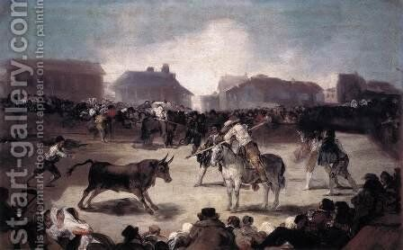 Village Bullfight by Goya - Reproduction Oil Painting