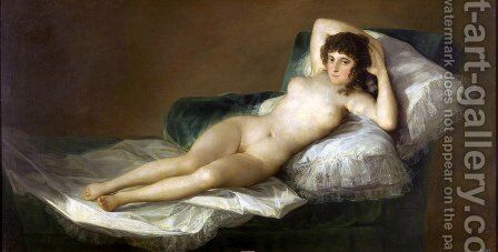 Nude Maja by Goya - Reproduction Oil Painting