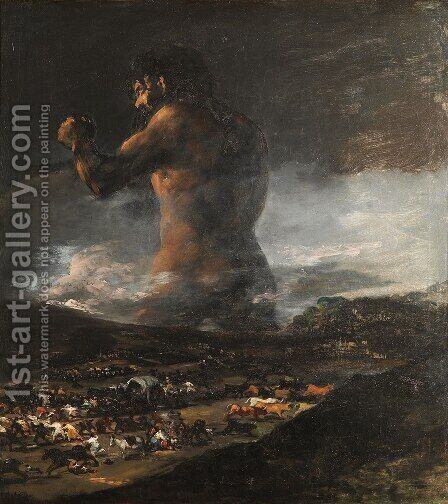 The Colossus by Goya - Reproduction Oil Painting