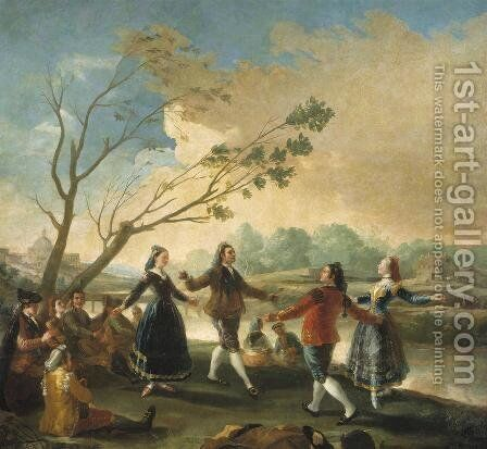 Dance Of The Majos At The Banks Of Manzanares by Goya - Reproduction Oil Painting