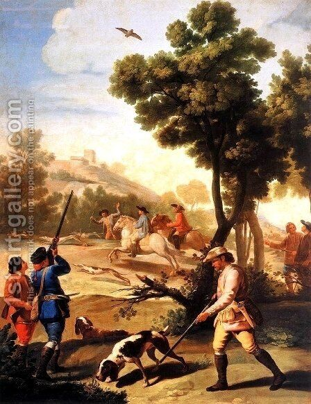 The Quail Shoot by Goya - Reproduction Oil Painting