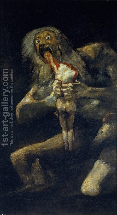 Saturn Devouring His Sons by Goya - Reproduction Oil Painting