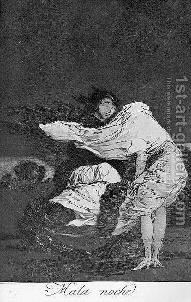Caprichos  Plate 36  A Bad Night by Goya - Reproduction Oil Painting