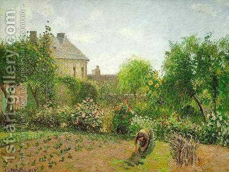 The Artist's Garden at Eragny 1898 by Camille Pissarro - Reproduction Oil Painting