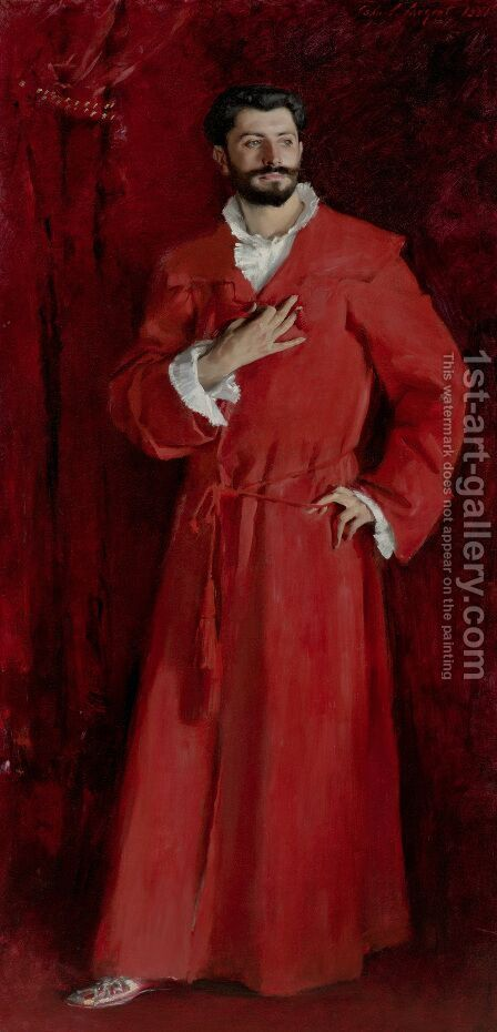 Dr Pozzi At Home by Sargent - Reproduction Oil Painting