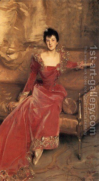 Mrs  Hugh Hammersley by Sargent - Reproduction Oil Painting