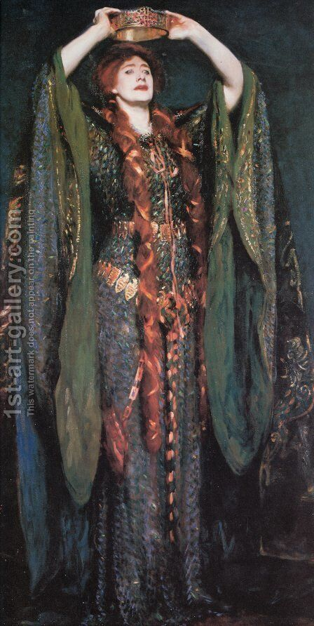 Miss Ellen Terry As Lady Macbeth by Sargent - Reproduction Oil Painting