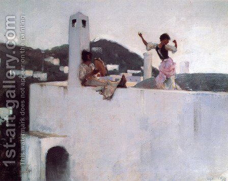 Capri by Sargent - Reproduction Oil Painting