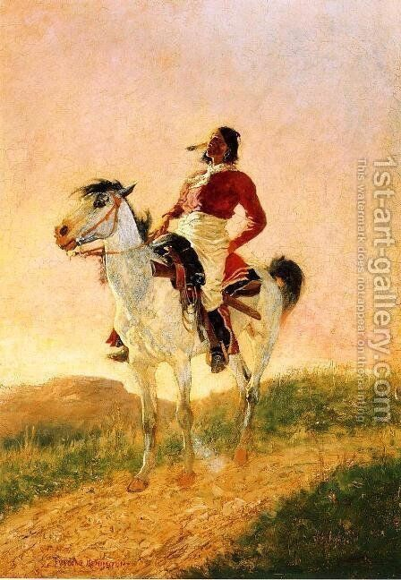 Modern Comanche by Frederic Remington - Reproduction Oil Painting