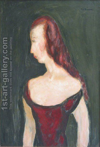 Girl In A Red Dress by Alfred Henry Maurer - Reproduction Oil Painting