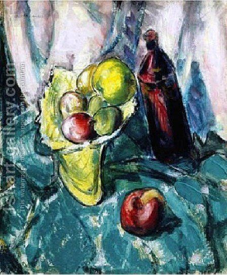 Still Life With Compote by Alfred Henry Maurer - Reproduction Oil Painting